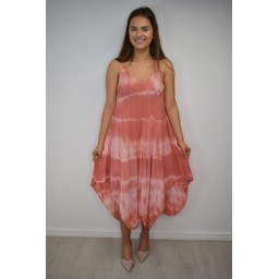Lucy Cobb Tahiti Tie Dye Dress - Coral