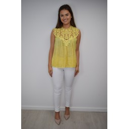 Lucy Cobb Charlotte Lace Top - Yellow