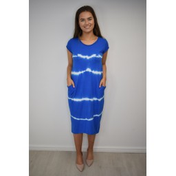 Lucy Cobb Taylor T Shirt Dress - Royal Tie Dye