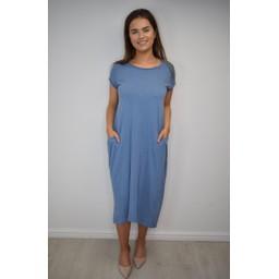Lucy Cobb Taylor T Shirt Dress in Denim