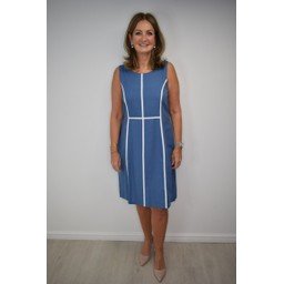 Alice Collins Kaye Dress - Dusky Indigo