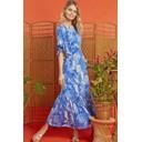 Gabriella Dress - Frida Blue