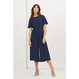 Great Plains  Essentials Crepe Jumpsuit - Navy