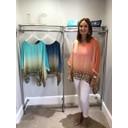 Leopard Tie Dye Silk Mix Top - Coral