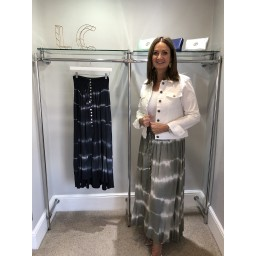 Lucy Cobb Tie Dye Maxi Skirt - Khaki