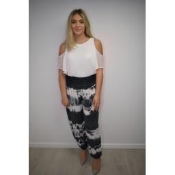 Lucy Cobb Hallie Harem Tie Dye Trousers  - Slate