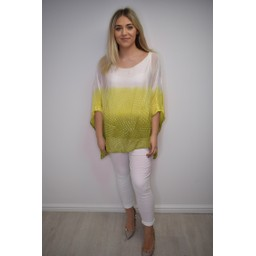 Lucy Cobb Spot Tie Dye Silk Top - Yellow