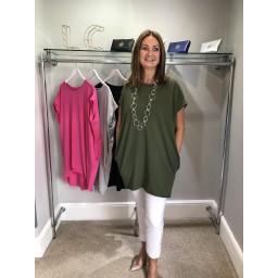 Lucy Cobb Oversized T-shirt Dress  - Khaki