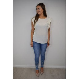 Fransa FR Cafine 2 Blouse in Cream