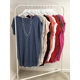 Lucy Cobb Oversized T-shirt Dress  - Denim Blue