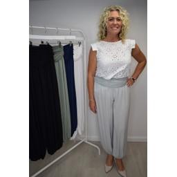 Lucy Cobb Hallie Harem Trousers - Light Grey