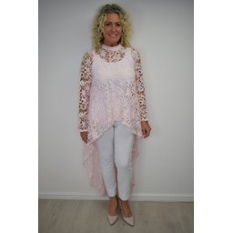 Lucy Cobb Lauren Lace Top - Pink