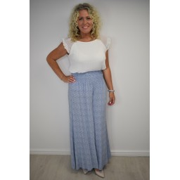 Lucy Cobb Poppy Palazzo Trousers  - Light Blue (611)
