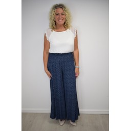 Lucy Cobb Poppy Palazzo Trousers  - Navy
