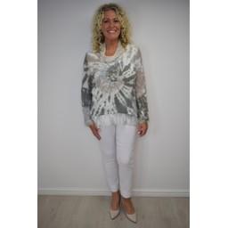 Lucy Cobb Cowl Neck Tie Dye Top - Dark Grey
