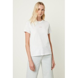 French Connection Be Nice Embroidered TShirt - White