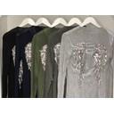 Crinkle Angel Wing Back Cardigan  - Silver