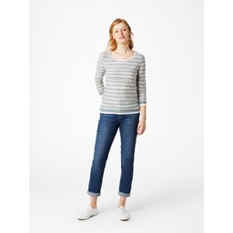 White Stuff Misty Lake Stripe Jumper - Green Mix