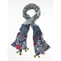 White Stuff Lighthouse Print Scarf - Multicoloured