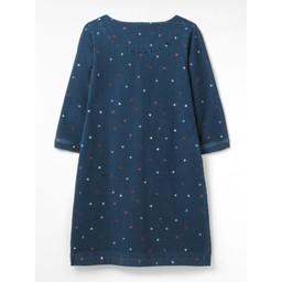 White Stuff Cross Stitch Dress - Denim