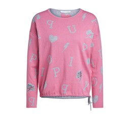 Oui Alphabet Two Tone Jumper - Pink