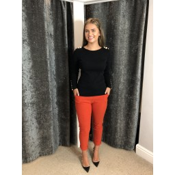Lucy Cobb Magic Trousers (Clara Crinkle) in Burnt Orange