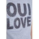 Glittery Oui T-shirt - Grey - Alternative 3