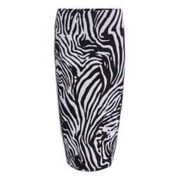 Oui Zebra Knit Skirt - Black Animal Print