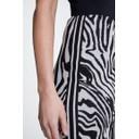 Zebra Knit Skirt - Black Animal Print - Alternative 3