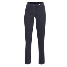 Robell Trousers Bella Full Length Corduroy Trousers in Grey