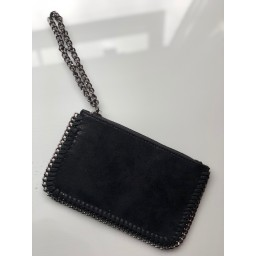 Lucy Cobb Chain Clutch in Black