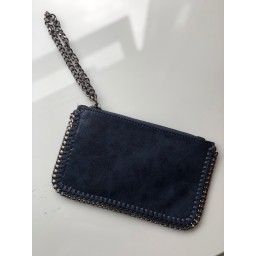 Lucy Cobb Chain Clutch in Navy