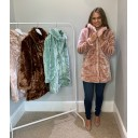 Tilly Fur Coat - Blush Pink