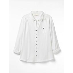 White Stuff Garden Path Jersey Shirt - White