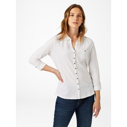 White Stuff Garden Path Jersey Shirt - White