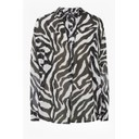 Sheer Zebra Pop Over Shirt - Black & White