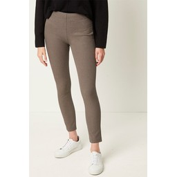 French Connection Calimero Stretch Mini Dogtooth Trousers  in Camel