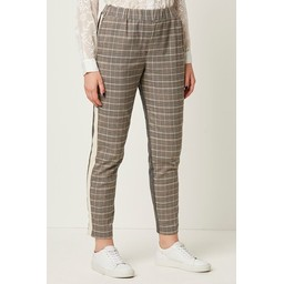 French Connection Amati Check Tailored Joggers - Grey Mix