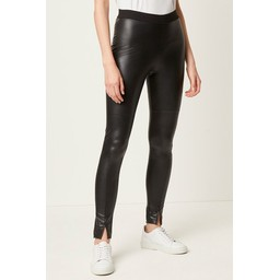 French Connection Celina Faux Leather Leggings - Black
