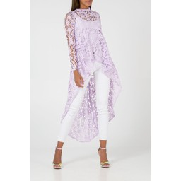 Lucy Cobb Lauren Lace Top in Lilac