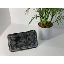 Lucy Cobb Chain Clutch in Black Silver