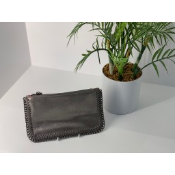 Lucy Cobb Chain Clutch in Dark Grey