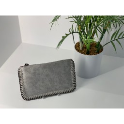 Lucy Cobb Chain Clutch - Grey