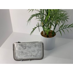Lucy Cobb Chain Clutch in White