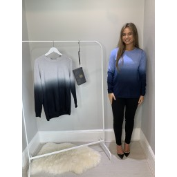Lucy Cobb Demi Dip Dye Jumper - Denim Mix