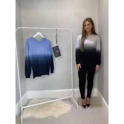Lucy Cobb Demi Dip Dye Jumper - Grey Mix