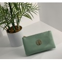 Toni Clutch With Strap - Light Green