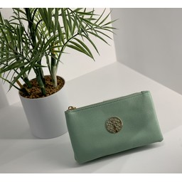 LC Bags Toni Clutch With Strap - Light Green