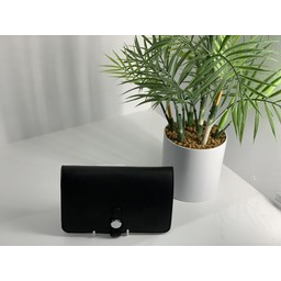 Lucy Cobb Travel Wallet with Purse in Black