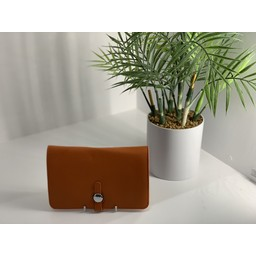 Lucy Cobb Travel Wallet with Purse in Orange